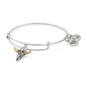 Alex and Ani Spirited Skull Expandable Bracelet